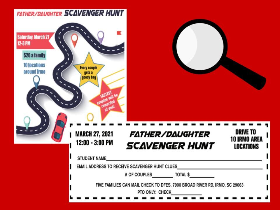 Father Daughter Scavenger Hunt- now May 1st!