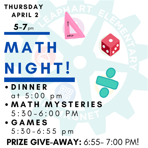 Math Night is Coming Soon!