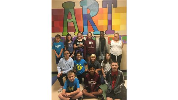 Oak Pointe's first ever Art Club for Grade 5 meets every Wednesday 7:25-7:45am