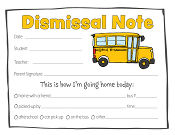 NOTES FOR DISMISSAL