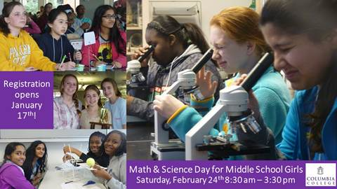 Math and Science Day for Middle School Girls