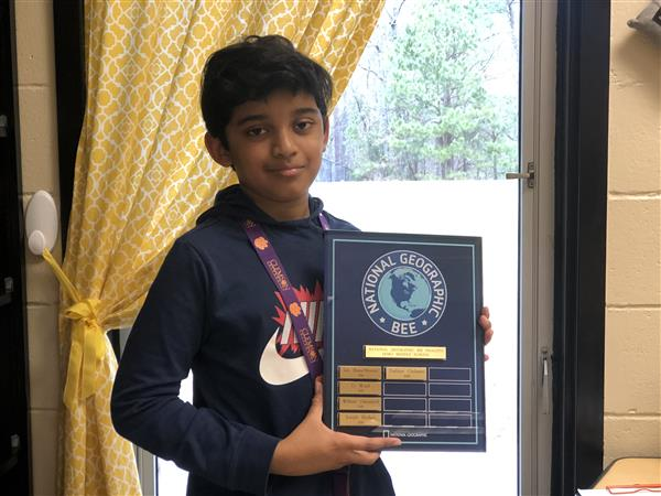 School Geography Bee Winner Prabhav Gudapati