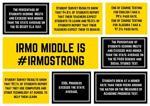 Irmo Middle Accolades