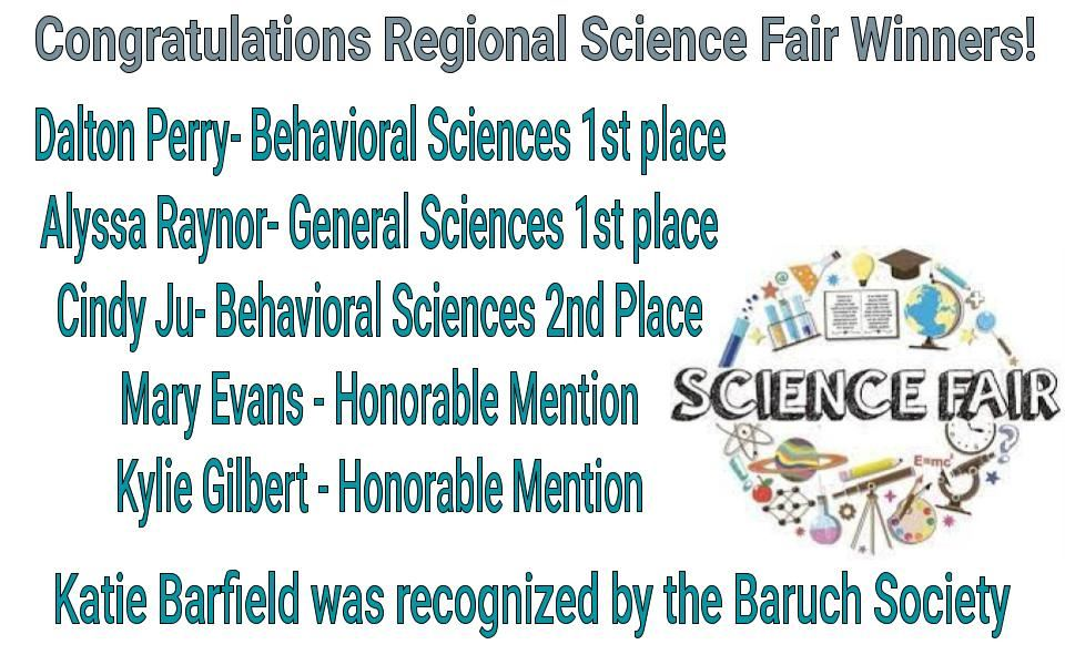 Congratulations to ALA Science Fair Winners