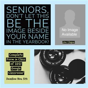 Deadline to select Yearbook Senior Portrait is November 5th