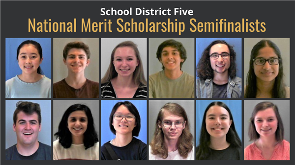 Twelve School District Five students named National Merit Scholarship semifinalists