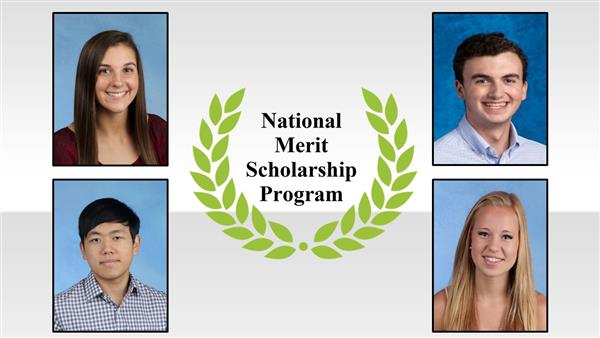 Four District Five students named National Merit Scholarship winners