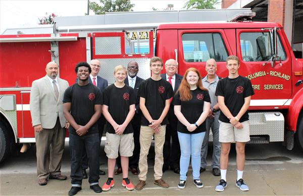 Columbia Fire Department donates fire engine to District Five