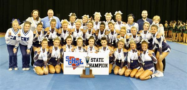 Chapin High School varsity cheer wins 14th state championship