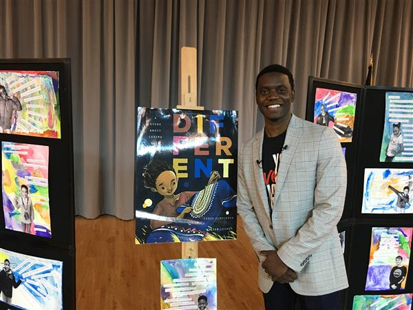 Motivational speaker Chris Singleton visits two School District Five elementary schools