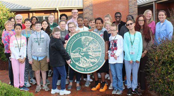 "Two District Five schools win ""Champions of the Environment"" grants from DHEC"