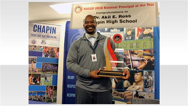 Chapin High School principal Dr. Akil Ross wins 2018 NASSP National Principal of the Year