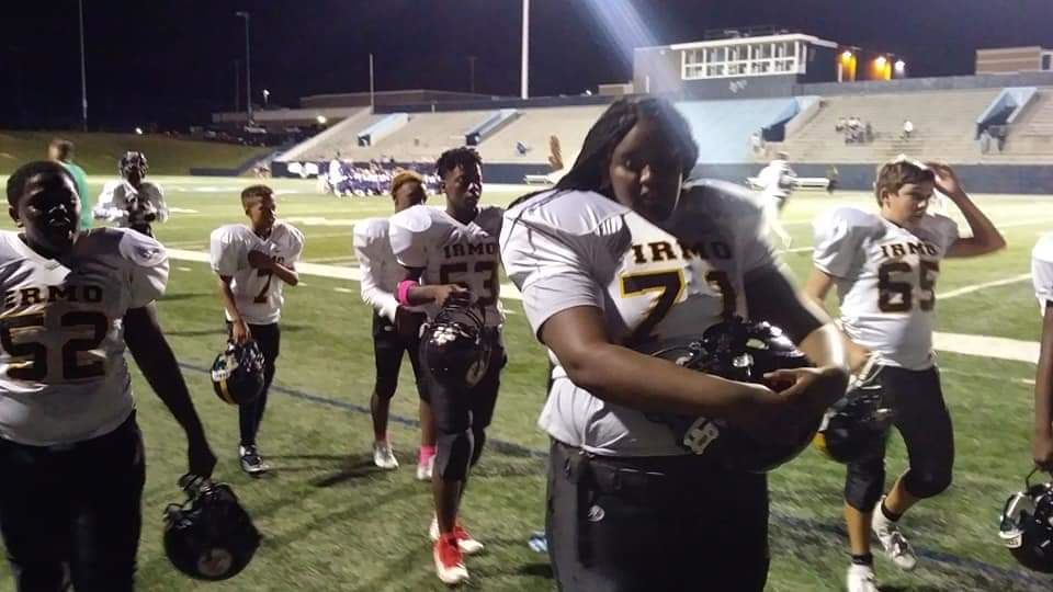 Irmo Middle School student makes history as first female football player at school