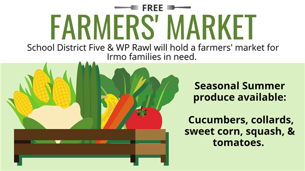 School District Five summer Farmers' Market offers free produce to families in need