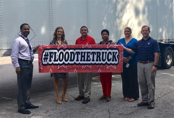 District Five #FloodsTheTruck for families in Houston affected by Hurricane Harvey