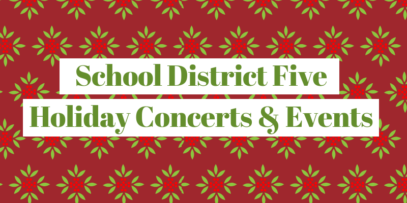 District Five schools spread cheer with holiday celebrations and performances
