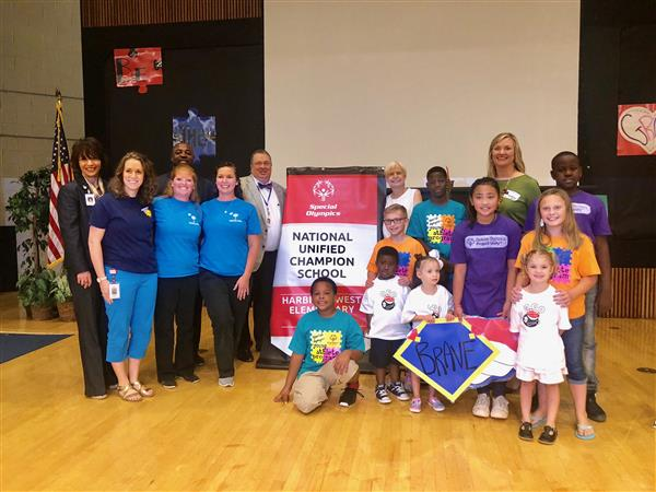 Harbison West Elementary School receives national recognition from Special Olympics