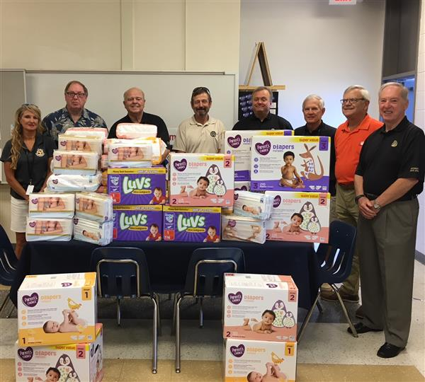 School District Five parenting program receives diaper donation