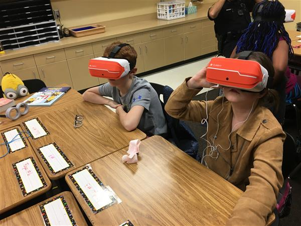 School District Five incorporates virtual reality glasses into the classroom