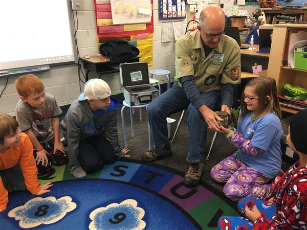 Chapin Elementary students shine bright in visit with solar astronomer