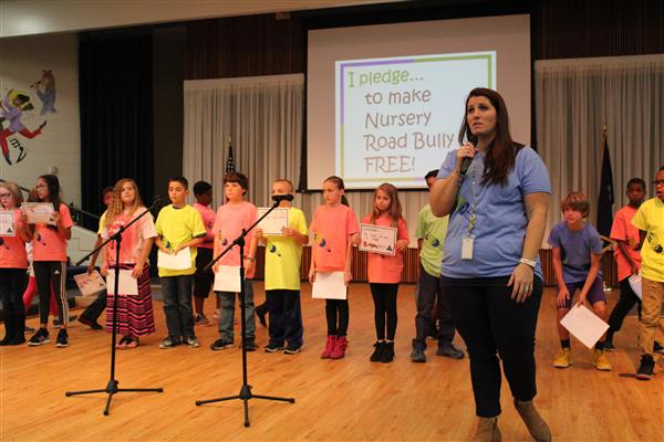 District Five elementary school present anti-bullying projects