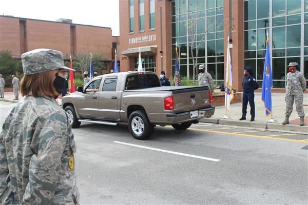 Irmo High School celebrates veterans with drive-thru parade