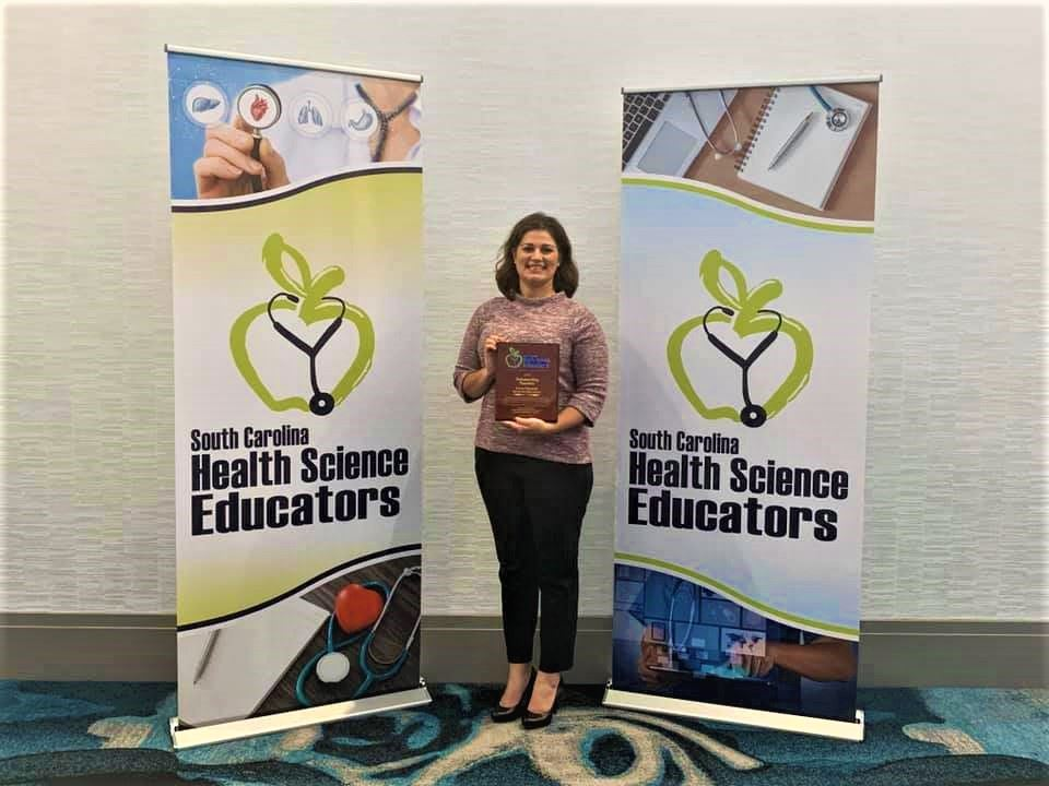 School District Five teacher receives statewide teaching award