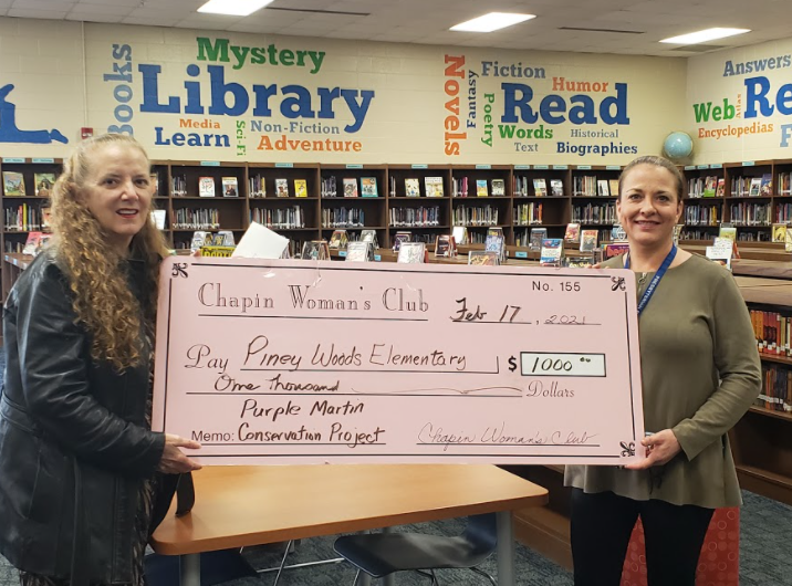Piney Woods Elementary receives two grants to benefit school and community