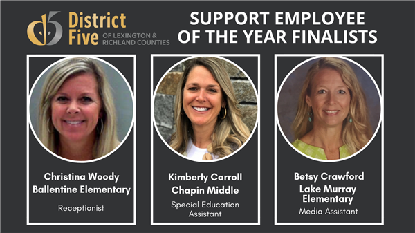 School District Five announces 2019-2020 Support Employee of the Year finalists