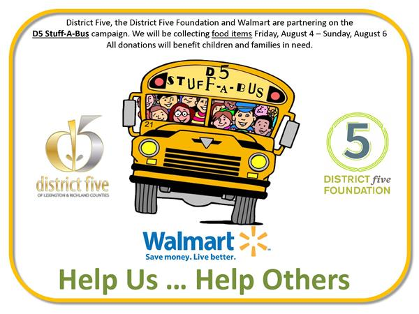 District Five Stuff-A-Bus campaign to help families in need