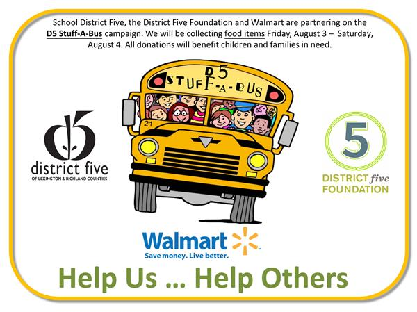 District Five, District Five Foundation and Walmart partner for Stuff-A-Bus event