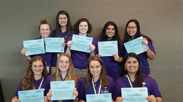 School District Five student, group recognized by state HOSA student organization