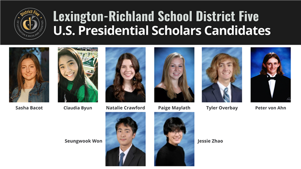 Eight School District Five students are candidates for U.S. Presidential Scholars Program