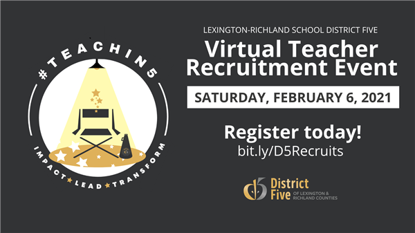 School District Five hosts Feb. 6 Virtual Teacher Recruitment Event