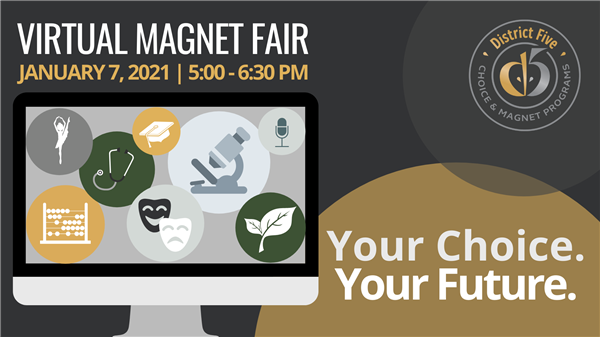 Registration is now open for School District Five Virtual Magnet Fair
