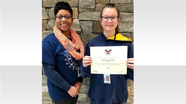 School District Five student honored for exemplary community service