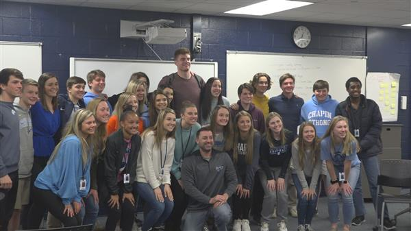 Motivational speaker Kevin Atlas visits School District Five high school