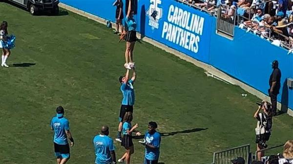 School District Five teacher is a cheerleader for the Carolina Panthers