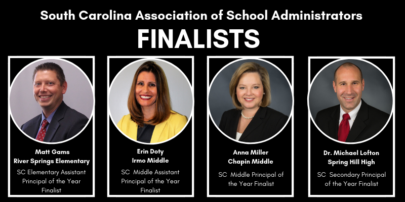 Four School District Five administrators named finalists for statewide recognition