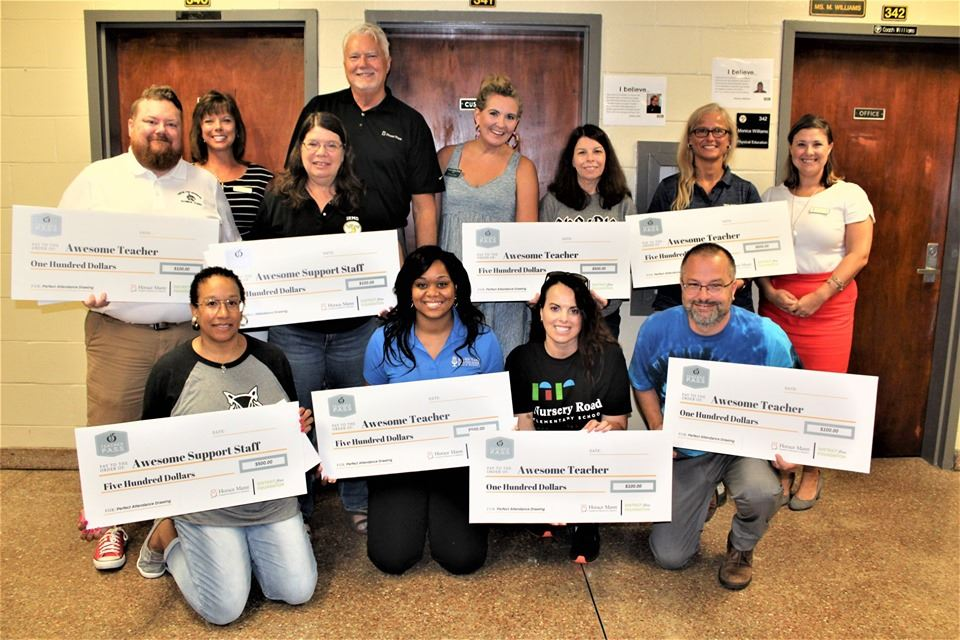 School District Five teachers, support staff surprised with awards for perfect attendance