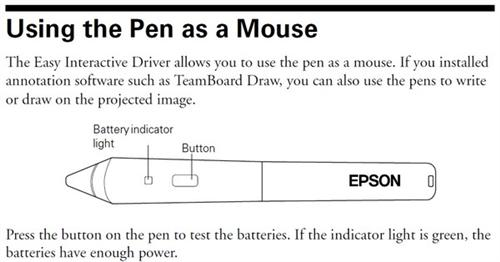 Using the Pen as a Mouse Diagram