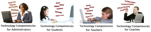 Technology Competencies for Administrators, Technology Competencies for Students, Technology Competencies for Teachers...