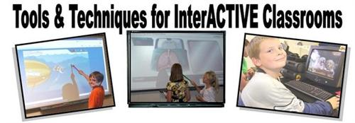 Tools & Techniques for Interactive Classrooms - students using the smartboard to learn