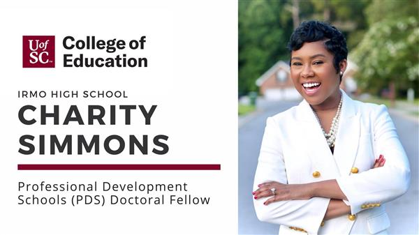 Teacher Charity Simmons named a Professional Development Schools Doctoral Fellow