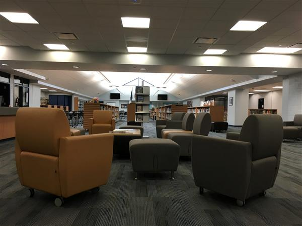 View of interior space of Library Media Center