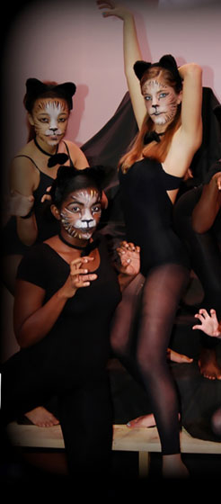 Theater students in the play CATS