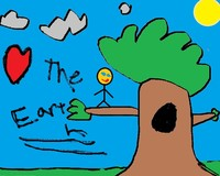 student art work - Love the Earth