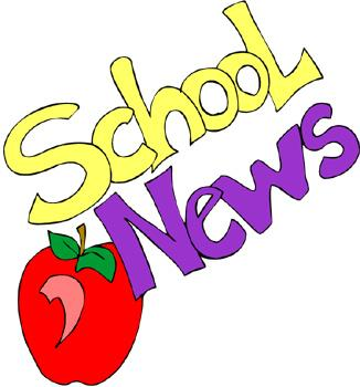 School News Graphic with apple