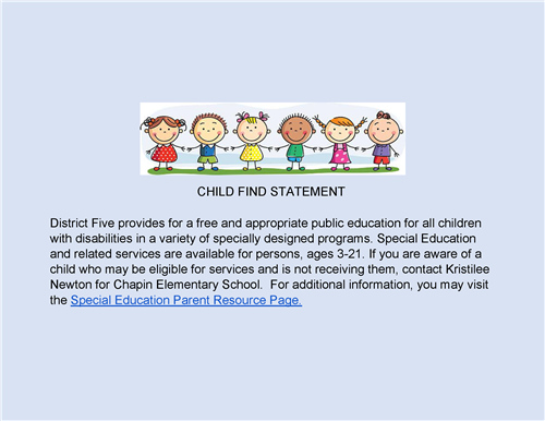 CHILD FIND STATEMENT