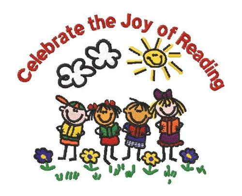 Celebrate the Joy of Reading - 4 kids smiling with books, standing outside in the sunshine